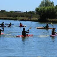 Canoë-Kayak sur l'étang du camping