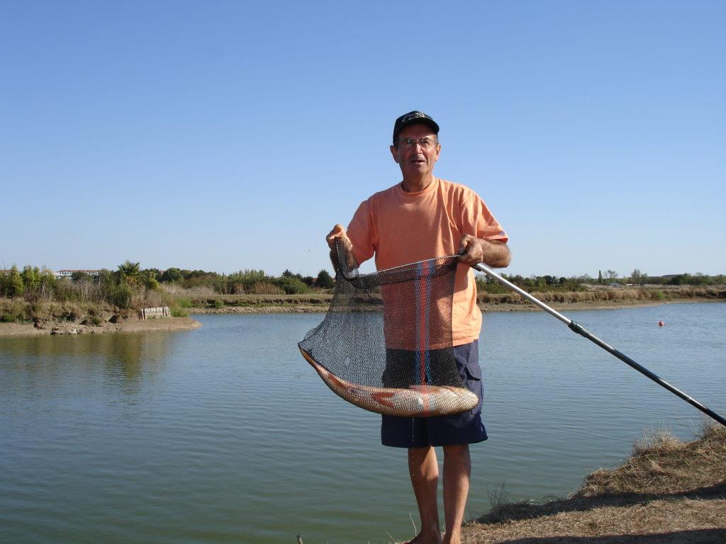 Pêche sur l'étang du camping